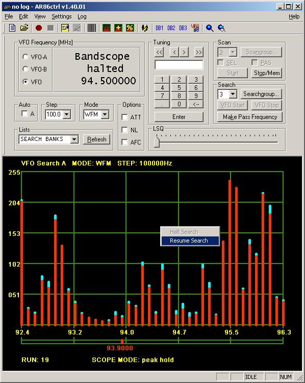 Klaus Botschan - AR8600 and AR8200 control software - Ar86ctrl
