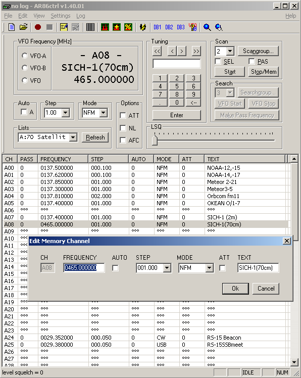 Klaus Botschan - AR8600 and AR8200 control software - Ar86ctrl
